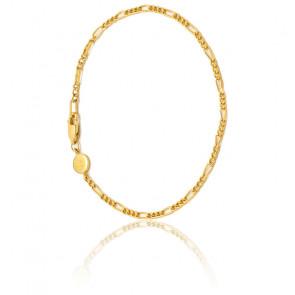 Bracelet Chaîne Figaro en plaqué or 18 carats