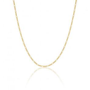 Collier chaîne moyenne en plaqué or 18 carats