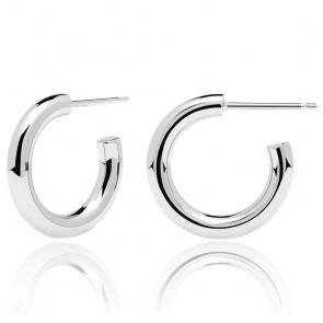 Boucles d'oreilles en argent Medium Cloud - AR02-377-U