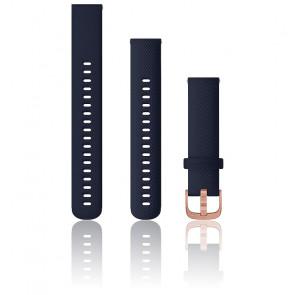 Bracelet de montre Quick Release Silicone Bleu Marine Boucle Rose Gold 010-12924-33