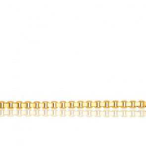 Chaîne vénitienne, plaqué or jaune 18K, longueur 50 cm