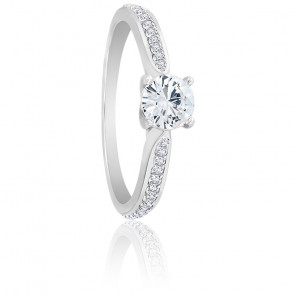 Bague Solitaire Alice Diamant 0,50 ct & Or blanc 18K
