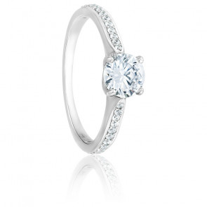 Bague Solitaire Alice Diamant 0,70 ct & Or blanc 18K