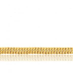 Bracelet maille américaine, plaqué or jaune 18K, longueur 18 cm