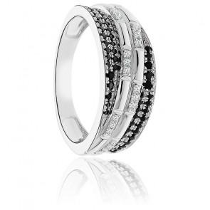 Bague Duchesse Or Blanc 9K & Diamants