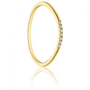 Alliance Finesse Or Jaune & Diamants