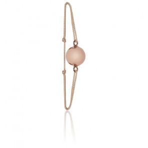 Bracelet plaqué or rose 18K mini Bola Zen