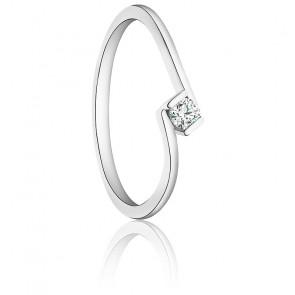 Bague Caro Or Blanc 9K & Diamant