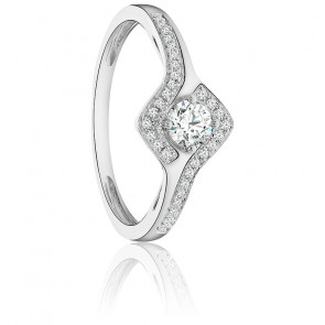 Bague Rosa Or Blanc & Diamants