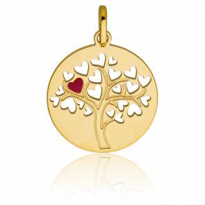 Médaille Arbre de vie ajourée, Or jaune 9K