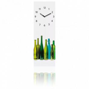 Horloge murale en verre - bouteilles VP40057