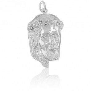 Pendentif Tête de Christ & Oxydes Argent