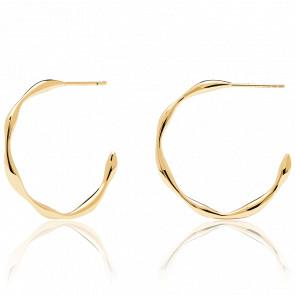 Boucles d'oreilles VANILLA GOLD - Créoles en argent doré. AR01-306-U