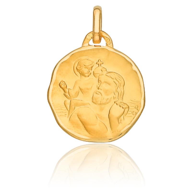 Médaille Saint Christophe, Or jaune 18K