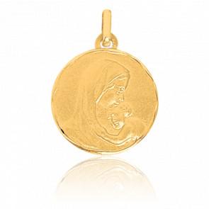 Médaille Vierge à l'enfant, Or jaune 18K