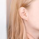 Boucles d'oreilles diamants HP1, Or Blanc 18K