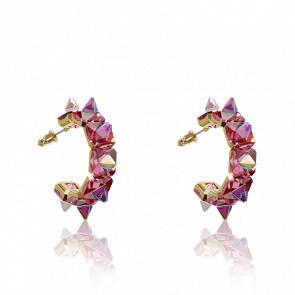 Boucles d'oreilles chroma rose et  or