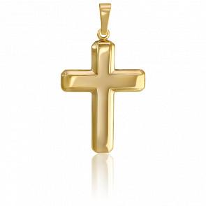 Pendentif croix latine or 9k