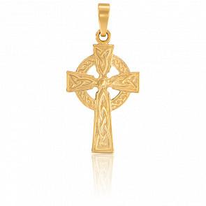 Pendentif croix celtique or 9k