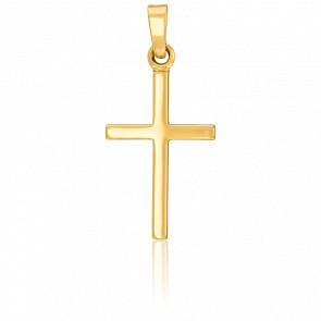 Pendentif croix simple or 18k