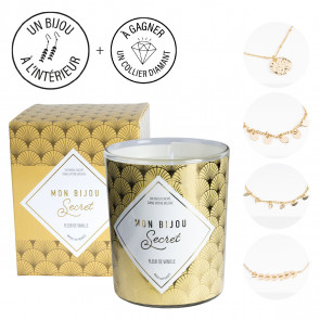 Bougie bijou bracelet doré parfum Vanille