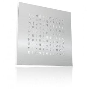 Qlocktwo Classic : Stainless Steel QT5FRSS (Français)