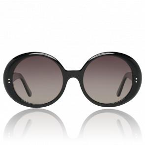 Lunettes de soleil ovales noires CL-400651-01F
