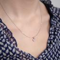 Pendentif Coeur Labréole Or Blanc 18K & Diamants
