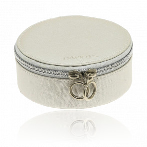 Boîte à bijoux ronde beige