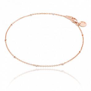 Bracelet or rose 18k saturne