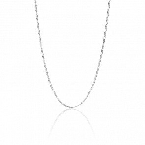 Chaîne thin figaro silver