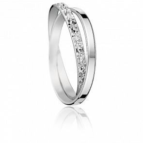 Alliance Sefid Roud Or Blanc 18K Diamantée