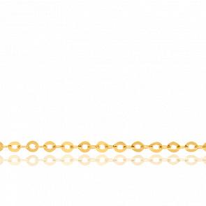 Chaîne Forçat plate, Or jaune 18k