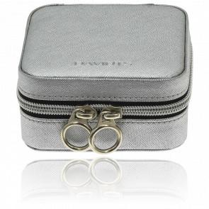 Boîte à bijoux carrée argentée