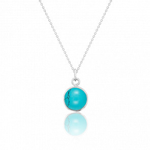 Collier argent 925 & turquoise