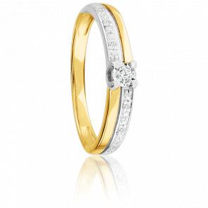 Bague Ménélas 2 Ors 18K & Diamants