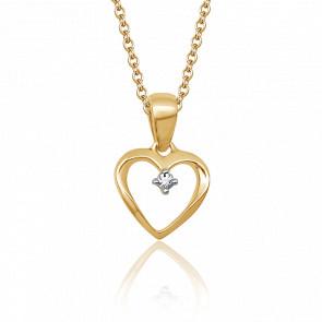 Pendentif Cœur, Or jaune & Diamant