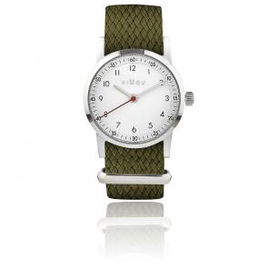 Montre Classique Bracelet tressé kaki MIL177