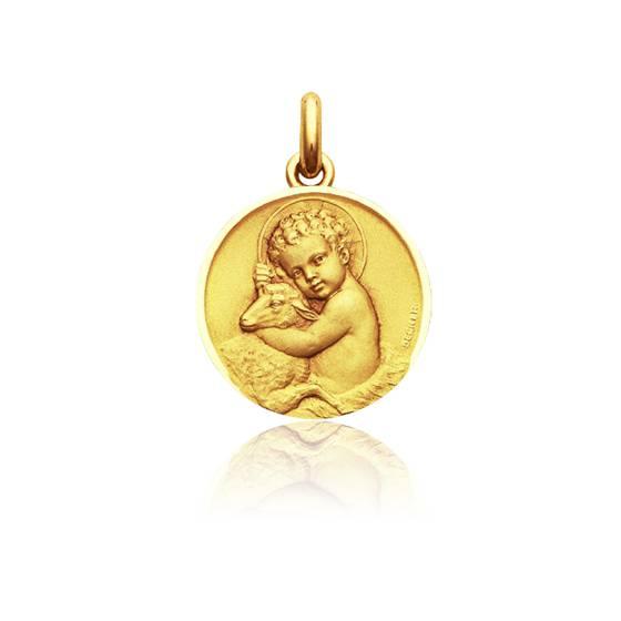 Médaille Enfant Jésus Or Jaune 18K