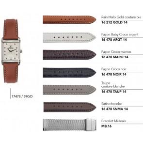 Bracelets en cuir et acier pour montre série 17478 / ...