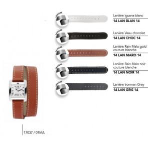 Bracelets en cuir double tour pour montre série 17037/…