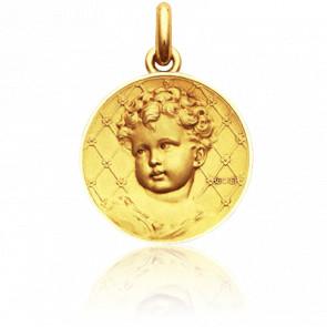 Médaille Enfant Ronde Or Jaune 18K
