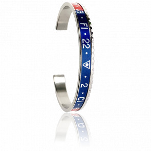 Bracelet Classic Dual Collection Steel Red & Blue SBR-1103-N
