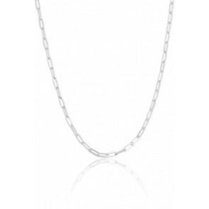 Chaine Maille Rectangle allongée, Argent Massif, Largeur 2,50 mm