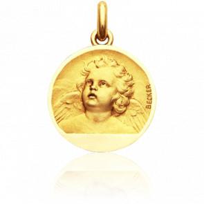 Médaille Ange Regardant Vers le Ciel Or Jaune 18K