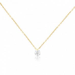 Collier Etincelle, diamant FSI et or jaune 18k