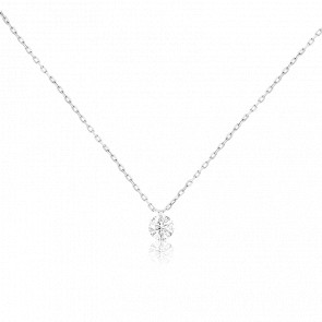Collier Etincelle, diamant FSI et or blanc 18k