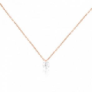 Collier Etincelle, diamant FSI et or rose 18k