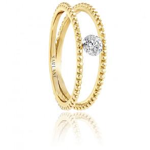 Bague Palline, diamant FSI et or jaune 18k