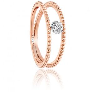 Bague Palline, diamant FSI et or rose 18k